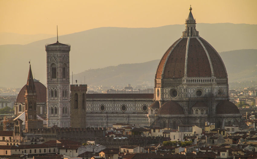 duomo santa maria del fiore in city during sunset