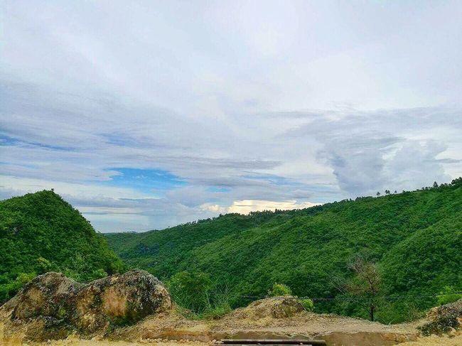 Beauty In Nature Nature Cloud - Sky Scenics Sky Mountain Landscape Day Outdoors Mountain Range Scenery Rock - Object Travel Destinations Tourism Osmeña Peak Cebu City, Philippines