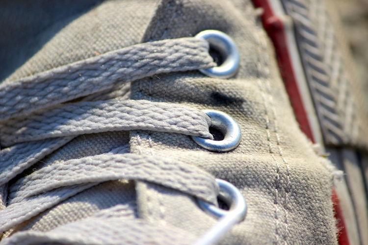 Close-up of shoelace