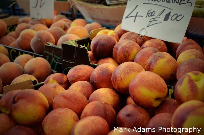 Nectarines, Street Photography Nikond3200 Nectarines Fruit Food And Drink Freshness Food For Sale Healthy Eating Market Stall Display Streetphotography Up Close Street Photography