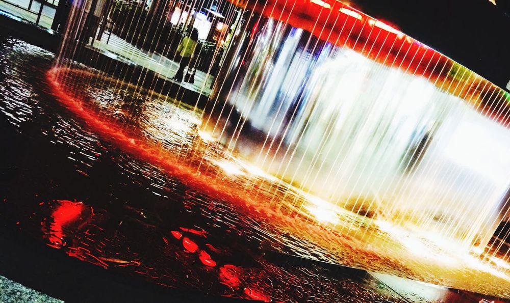 Fountain Water Night