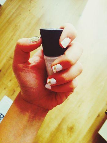 New nailart Hipster Nail Art Gold White First Eyeem Photo