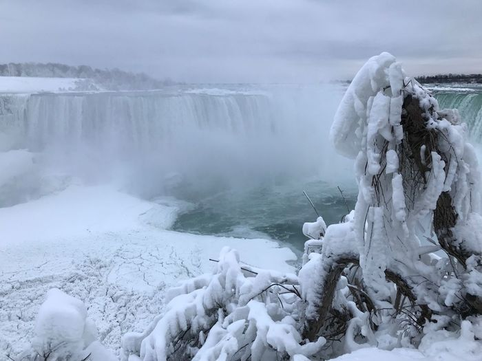 Frozen Niagara Winter Cold Temperature Nature Snow Beauty In Nature Frozen Weather Water Ice Scenics White Color Waterfall Icicle Motion