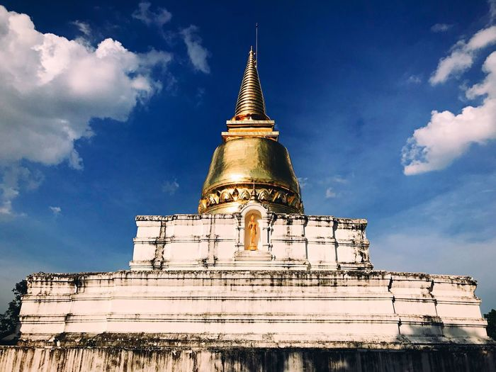 Religion Architecture Sky Built Structure Building Exterior Cloud - Sky Low Angle View Building Pagoda Place Of Worship