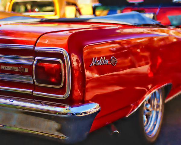 Chevrolet Chevy Chevy Malibu Close-up Focus On Foreground Mode Of Transport No People Outdoors Parked Red Selective Focus Stationary Transportation Vintage Car