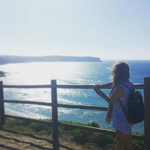 Summer2015 SPAIN Suances Cantabria Polkadots Blue Outfit