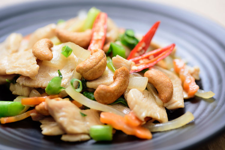 Thai food recipe, Fried chicken with cashew nut Thai ASIA Asian  Cashew Nut Chicken Meat Close Up Cuisine Delicious Diet Dish Eating Food Fried Gourmet Homemade Meal Nutrition Tasty Vegetable Food And Drink Ready-to-eat Wellbeing Healthy Eating Indoors  Serving Size Selective Focus Meat