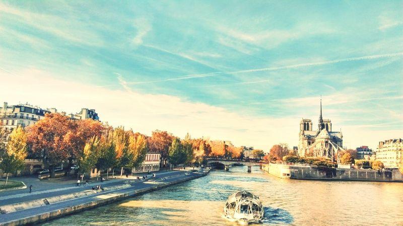 Paris Notre-Dame Traveling Walking Around