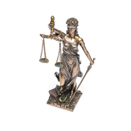 The Statue of Justice - lady justice or Iustitia isolated on white background Blind Crime Guilty Innocence Isolated LIBRA Lady Justice Lawyer Statue Balance Concept Courtroom Criminal Decision Equality Holding Human Representation Isolated White Background Judge Judgment Judicial Justice Law Litigation Sculpture