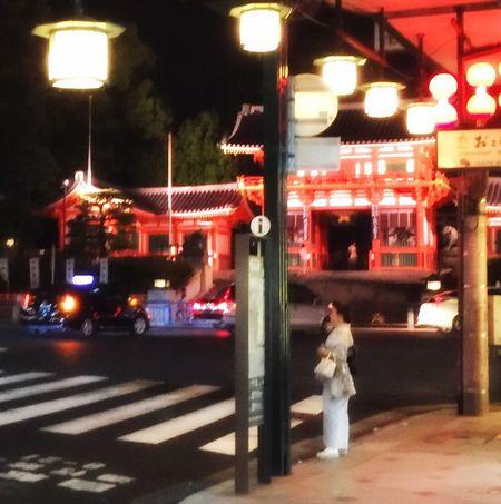 八阪神社 Kyoto,japan Night Street Shrine Yasaka-jinja Shrine Nightphotography Night Lights 朱