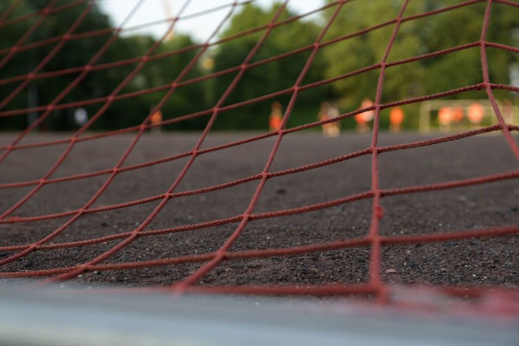 Close-up of net at playground
