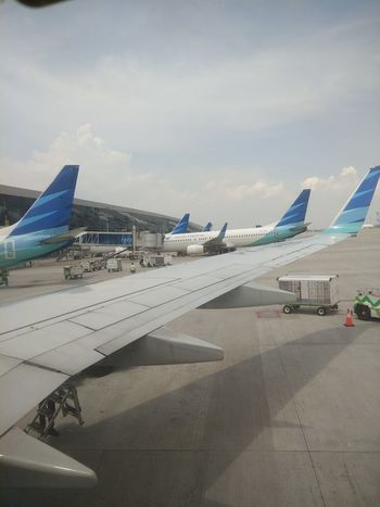 Garuda Berbaris Garuda Indonesia From My Point Of View Airplane From My Window No People