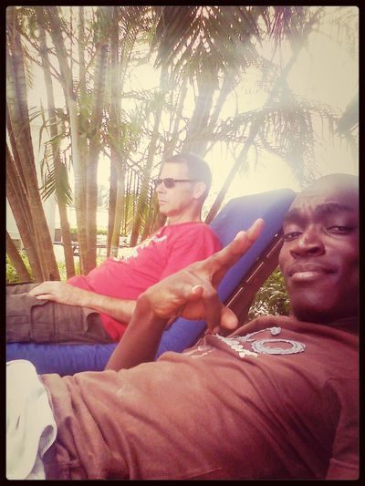 Libreville Soleil#piscine☀ Selfies Cool with the Cagnacoula...