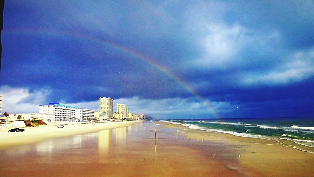 Rainbow at crabby Joes deck and grill on the sunglow pier in daytona beach Florida