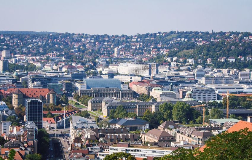 Cityscape City Architecture Building Exterior Travel Destinations Residential Building Day Cultures Outdoors Clear Sky Stuttgart Bigcitylife High Angle View Architecture