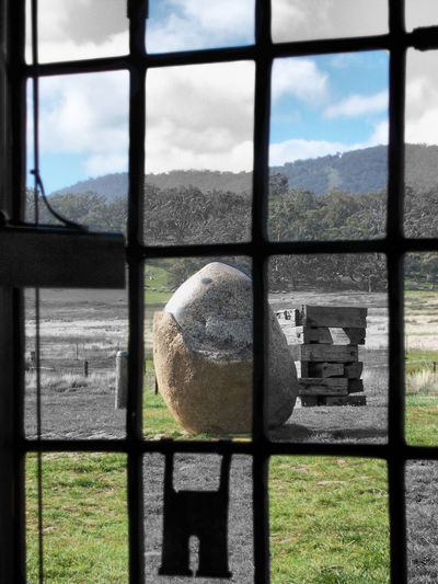 Ball Black And White With A Splash Of Colour Close Up Close-up Cloud - Sky Day Mountain Nature No People Outdoors Sky Water Window My Life My Adventure Photography Everywhere Artistic Relaxing Tranquility Trees And Sky Creativity Everywhere Mountains Woods Australian Landscape