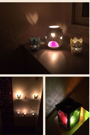 Flame Light And Shadow Effect Home Accessory Indoors  No People