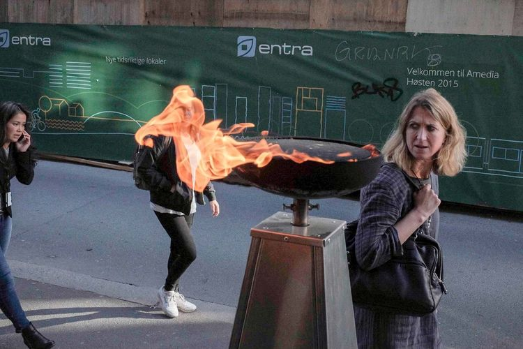 Oslo 2015 Burning City Dracarys Norway Oslo Blond Hair Burn Candid Day Europe Eyes Fire Indoors  Portrait Real People Standing Streetphotography Urban Young Adult Young Women