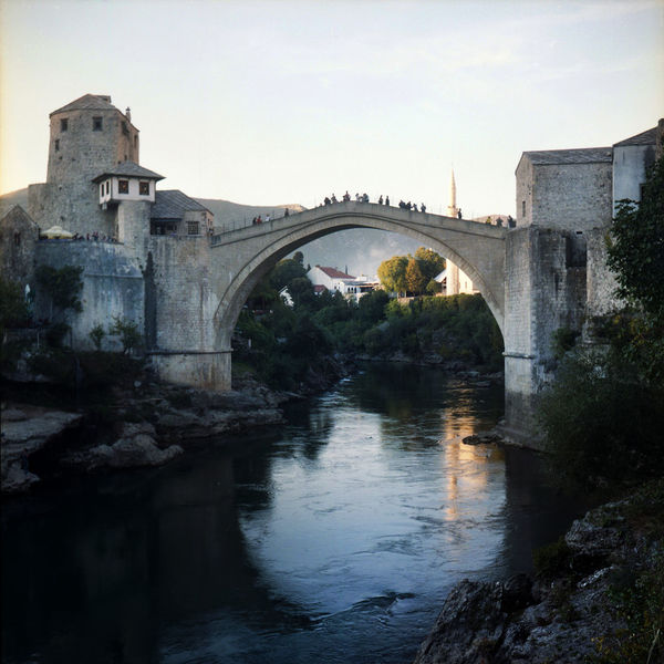 Architecture Balkan Beautiful Bosnia And Herzegovina Cityscape Clear Sky Evening Light Mostar Mostar Bosnia Mostar Bridge Mostar ♥ Tourist Attraction  Balkans Bridge Bridge - Man Made Structure Film Photography Minaret Mosque Neretva Neretva River Old Town Mostar Reflections In The Water Stone Bridge Town Travel Destinations EyeEmNewHere