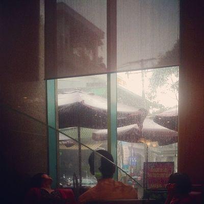 TRỜI MƯAAA Bede sợ mưa bede sợ ướt :((