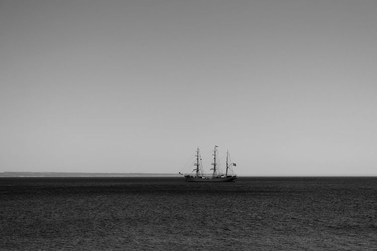 Black & White Black And White Blackandwhite Blackandwhite Photography Bnw Classic Boats Eye4photography  EyeEm Best Shots EyeEmBestPics From My Point Of View Sail Away, Sail Away Sailboat Sailing Seascape Seaside Sky And Clouds Waves, Ocean, Nature