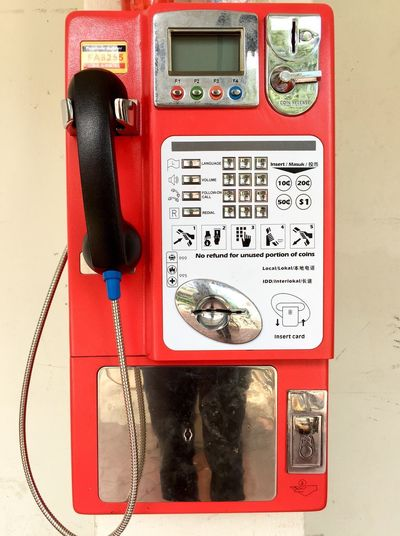 Connection Red Telephone Communication No People Old-fashioned Pay Phone Telephone Receiver Technology Day Close-up Outdoors