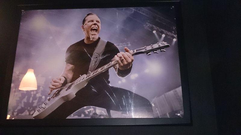 Un Dibujo del Cantante de Metallica