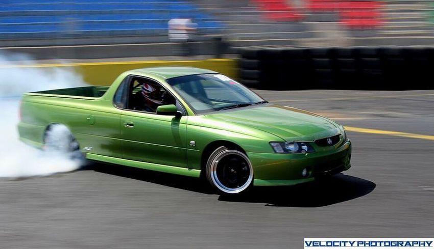 G Greencar Greenholden Drift Drifting Calderparkraceway Vicdrift Velocityphotography Sunny Day Victoria UTE Cars Melbourne