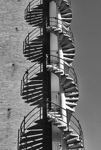 050 Monochrome Blackandwhite Spiral Shadows Urban Dna The City Light
