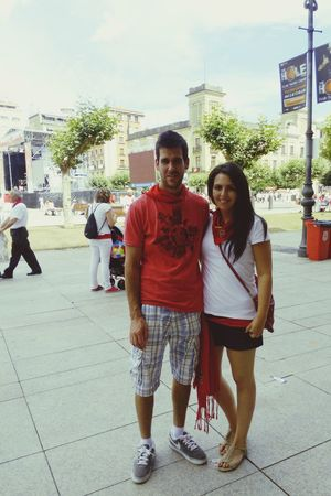 San Fermin 2014 Pamplona Spain♥ Enjoying Life With Friends That's Me Party Time Plaza del Castillo