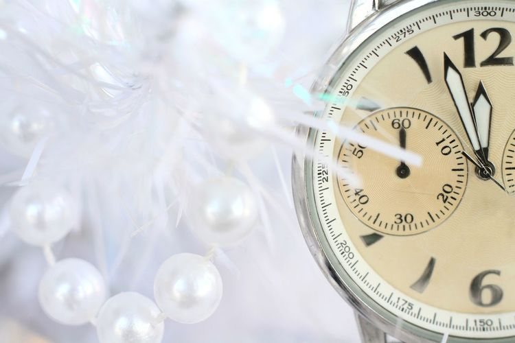 Image of New years eve celebration with clock with plastic pearls in background year 2018 Celebration Festival Festive Season Happy New Year 2013 Happy New Year 2018 New Years Eve 2018 Partying Festive Midnight Minute New New Years Day New Years Eve 2018; 2017; Year; New; Day; Holiday; Calendar; Woman; Sea; Fly; Attractive; Cloud; Dream; Future; January; Seasonal; Field; Success; Symbol; Leap; Celebrate; Night; Dancer; Celebration; Jump; Event; Freedom; Dusk; Sun; Resolution; Number; Excited; Annual; CountdownToChristmas Event New Year Partying Celebration Event Clock Tower Countdown 2018 Event Photographer Party Season  Spiritual