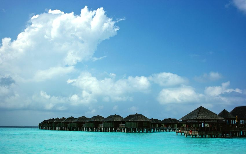 Maldives Travel Lifestyle Beach Beach House Blue Paradise