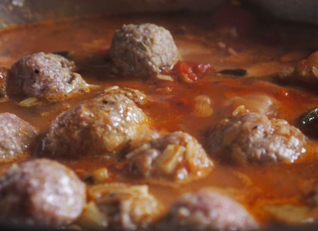 Close Up Close-up Food Freshness Homecooking Italian Food Meat Meat Balls No People Tomatoe Sauce