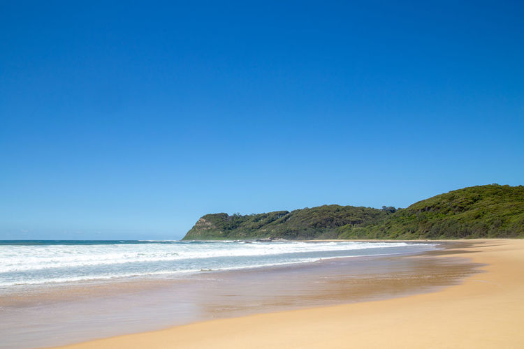 Empty beach NSW