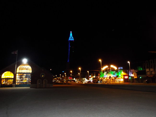 Blackpool Seafront Tourism Tourist Attraction  Night Time Summer Summertime Summer2016 The Essence Of Summer Blackpool Tower Blue Lights  Blue Lights On Blackpool Tower Night Lights Bright Lights Of Blackpool Cities At Night