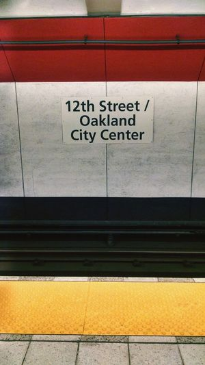 Heading home. Oakland Ca BART Public Transportation