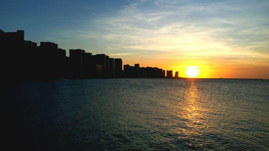 Pôr do Sol em Fortaleza.