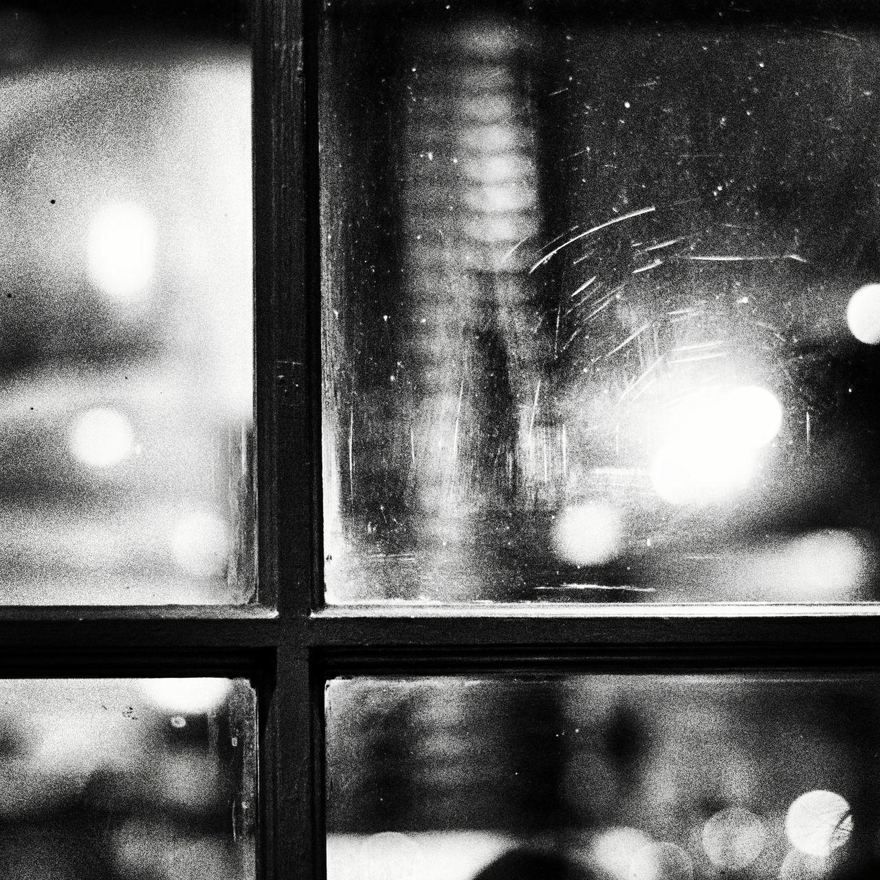 FULL FRAME SHOT OF ILLUMINATED WINDOW IN WATER