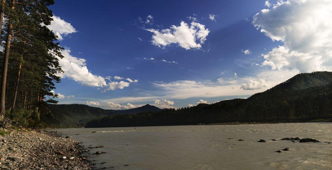 Altai Blue Cloud - Sky Coast Forest Mountain River Sky Sunset