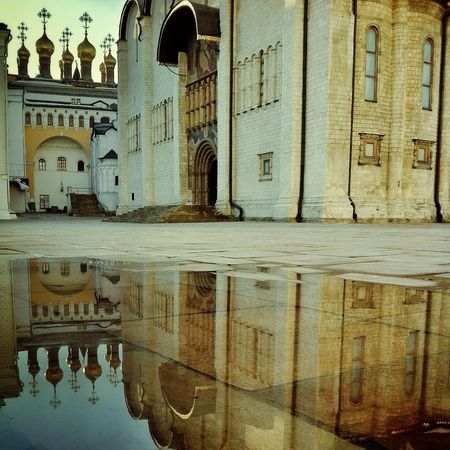 Reflection Kremlin Water Reflections Through The Mirror