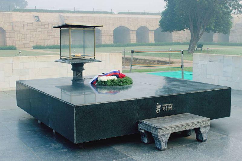 Rajghat Gandhi Mahatma Gandhi India Newdehli Dehli Smoke