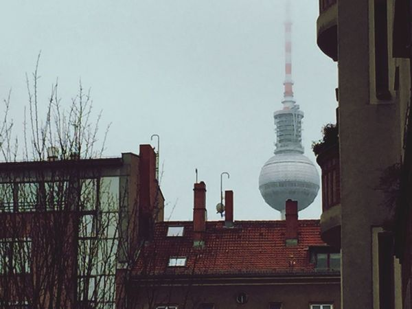 Built Structure Architecture City Tvtower Outdoors Winter Grey Berlin
