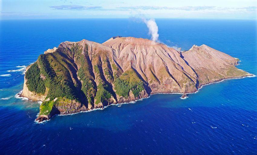 Volcanoes Volcano Crater Island Fumes Aerial Shot Aerial Photography New Zealand White Island volcano, Bay of Plenty, New Zealand, shot from helicopter. Helicopter View  Whakaari Islands Island View  Helicopter View  Islandphotography