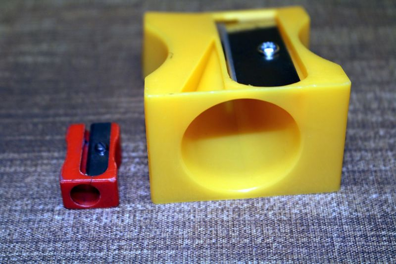 Close-up of sharpeners