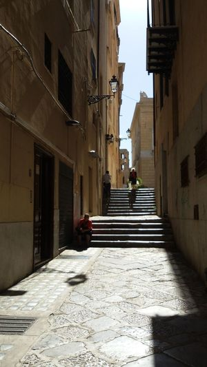 In a hot afternoon...three people Adult City City Streets View Day Hot City Old Man Walking Old Town Lublin Old Women Outdoors Palermo Sitting On The Stairs Sky Stairs Three People