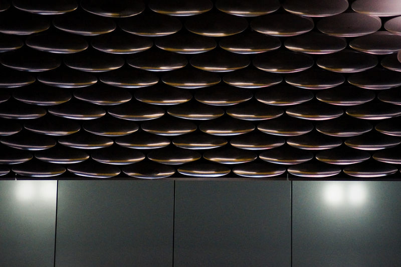Airport Architectural Feature Architecture Backgrounds Built Structure Ceiling Circle Design Full Frame Geometric Shape In A Row Indoors  Lighting Equipment Low Angle View Metal No People Pattern Photography In Motion Repetition Shape Side By Side Things I Like Urban Spring Fever Wall - Building Feature Your Design Story