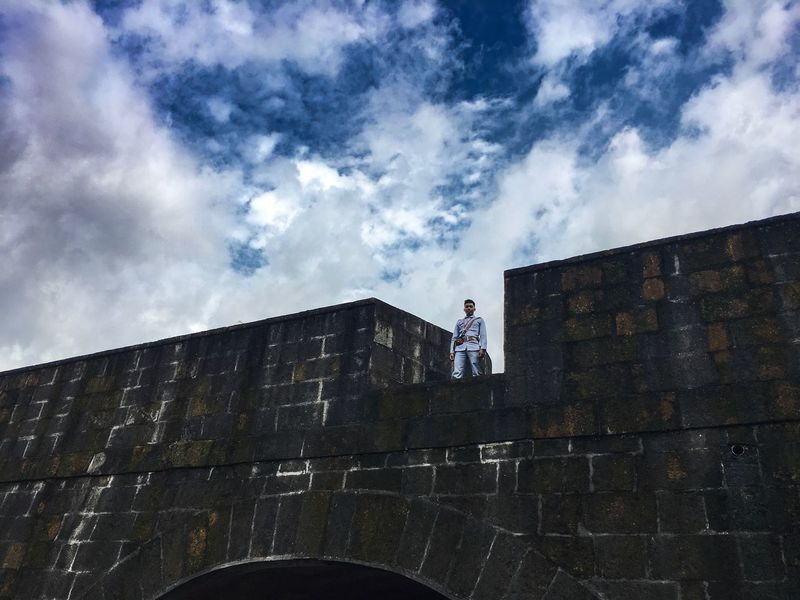 Guardia Civil Real People Guard Intramuros,manila IPhone Photography Iphone 6 Plus Blue Sky Wall - Building Feature The Week Of Eyeem Finding New Frontiers