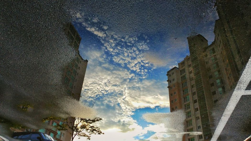 After rain Reflection Reflection Of The Clouds And Sky Cloud - Sky Sky Nature Water Day
