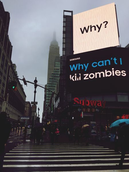 I ask myself that same question NYC Photography Heading To Work 34th Street  7th Ave NYC I Wish  Zombie
