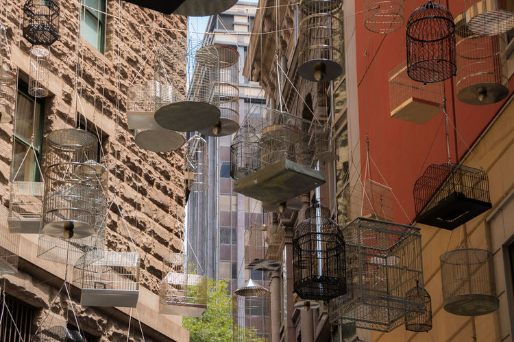 theBirdcages Architectural Feature Art Arts Culture And Entertainment Birdcage Cages Low Angle View Modern Perspective The Cage Touristic Destination